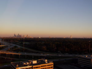 Photo: Downtown Houston from the Forum near 610 and I-10
